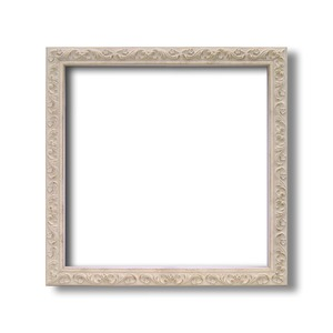 【角額】正方形額・深みのある額・壁掛けひも・アクリル付■8201 400角(400×400mm)「ホワイト」