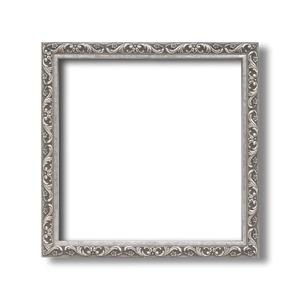 【角額】正方形額・深みのある額・壁掛けひも・アクリル付■8201 400角(400×400mm)「シルバー」