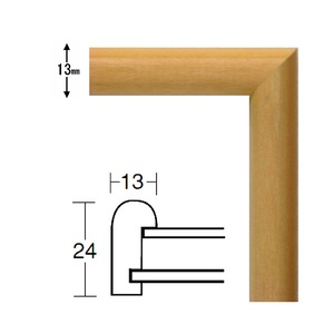 【角額】正方形額・細いフレーム・壁掛けひも■5432 300角(300×300mm)「木地」