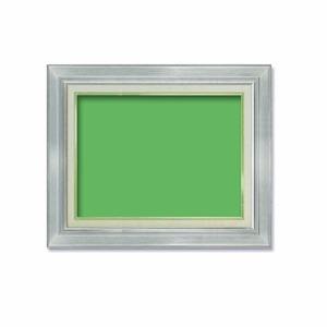 【油額】油絵額・キャンバス額・金の油絵額・銀の油絵額 ■7711 F6号(410×318mm)「シルバー」 - 拡大画像