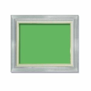 【油額】油絵額・キャンバス額・金の油絵額・銀の油絵額 ■7711 F8号(455×380mm)「シルバー」 - 拡大画像