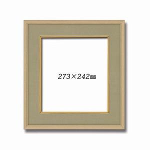 【木製色紙額】緞子色紙額・和風色紙額・和風色紙額 ■ナラ色木製色紙額(布マット付き)273×242mm ウグイス