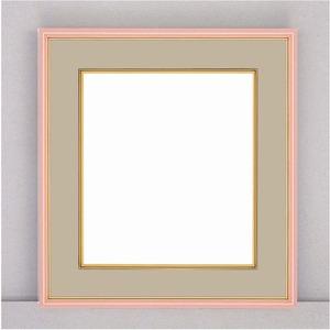 【カラー色紙額】細い色紙額・細いフレームの色紙額 ■カラー色紙額273×242mm ピンク