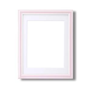 カラー遺影額(細い枠) ■仏事用額・葬儀額(遺影額)  (ピンク) - 拡大画像