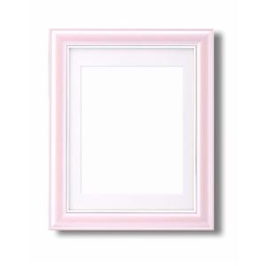 カラー遺影額(太い枠) ■仏事用額・葬儀額(遺影額) (ピンク)