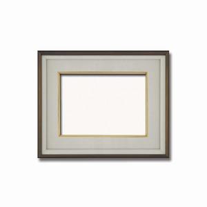 【高級日本画額】前面アクリル仕様 高級和額 厚みのある作品収納可 ■高級色紙F4サイズ(333×242mm)ダークオーク