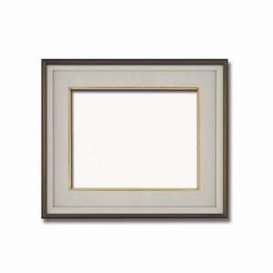 【高級日本画額】前面アクリル仕様 高級和額 厚みのある作品収納可 ■高級色紙F6サイズ(410×318mm)ダークオーク