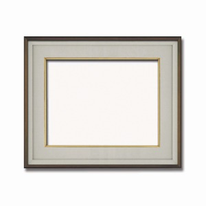 【高級日本画額】前面アクリル仕様 高級和額 厚みのある作品収納可 ■高級色紙F8サイズ(455×380mm)ダークオーク