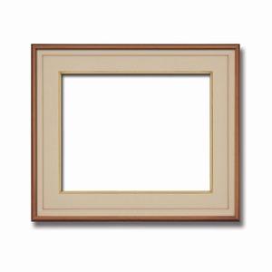 【高級日本画額】前面アクリル仕様 高級和額 厚みのある作品収納可 ■高級色紙F8サイズ(455×380mm)ベージュ