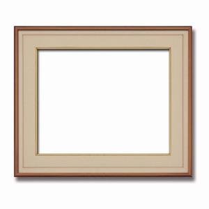【高級日本画額】前面アクリル仕様 高級和額 厚みのある作品収納可 ■高級色紙F10サイズ(530×455mm)ベージュ