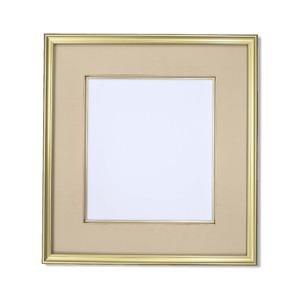 【高級色紙額】金色フレームに布マット 色紙用273×243 色紙額ベージュ■高級色紙(マット付き)273×243mm - 拡大画像