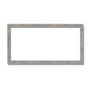 【長方形額】木製額 縦横兼用額 前面アクリル仕様 ■金(銀)長方形額(600×300mm)銀柄紋 - 拡大画像