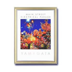 【マイナスイオンフレーム】大きなポスター額 ■ヒロ・ヤマガタポスター額DX「ディズニー エレクトリカルパレード」 - 拡大画像
