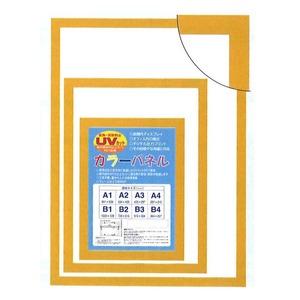 【パネルフレーム】MDFフレーム・UVカット付 ■カラーポスターフレームA2(594×420mm)イエロー - 拡大画像