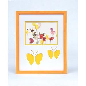 蝶々の額 黄色い額 ■いわさきちひろアート額 「おにごっこ」