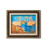 ダークブラウンアンティーク額 【額装品】世界の名画9573 F6 ゴッホ「アルルのはね橋」