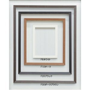 【仮縁油絵額】高級仮縁・キャンバス額 ■木製仮縁F6(410×318mm)サイズ ブラック