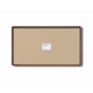 【長方形額】木製額 縦横兼用額 前面アクリル仕様 ■高級角丸木製長方形額(770×450mm)ブラウン