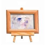 いわさきちひろ 心温まるナチュラル木製フォトフレーム イーゼル付き (雨の中の少女)
