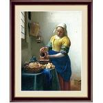 【フェルメールの代表作】謎多き画家 鮮やかな青色 ■ヨハネス・フェルメール(Johannes Vermeer)F4号 牛乳を注ぐ女