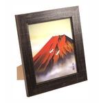 伊藤渓山色紙額(スタンド付) 赤富士