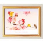 いわさきちひろポスター額(金)「花と少女」