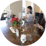 【飛沫防止透明板】飛沫防止 透明パーテーション(PET樹脂製) 大:約H610×W500mm