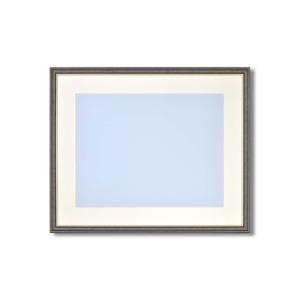 【軽量水彩額】色あせを防ぐUVカットアクリル・マット付き 水彩額F8号 ブラック - 拡大画像