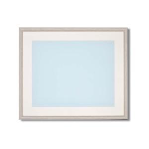 【軽量水彩額】色あせを防ぐUVカットアクリル・マット付き 水彩額F10号 ホワイト - 拡大画像