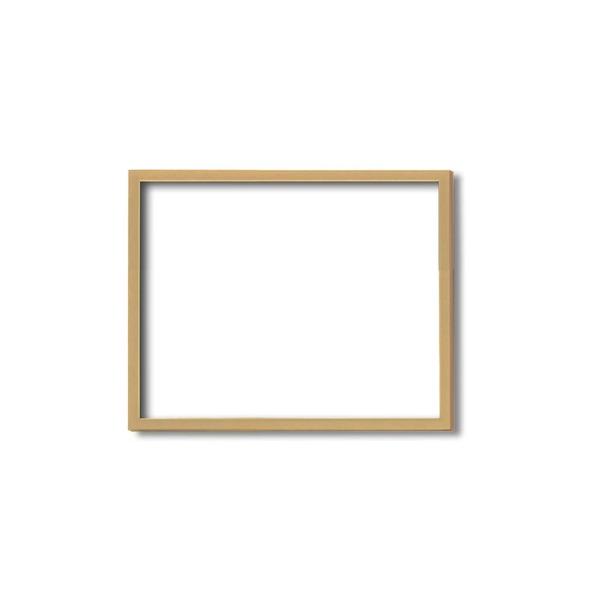 【木製額】色あせを防ぐUVカットアクリル ■デッサン額 四ツ切サイズ(424×348mm)木地 壁掛けひも付き 化粧箱入り