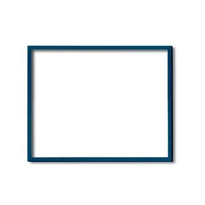 【木製額】色あせを防ぐUVカットアクリル ■デッサン額 三三サイズ(606×455mm)ブルー 壁掛けひも付き 化粧箱入り - 拡大画像