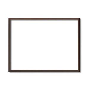 【木製額】色あせを防ぐUVカットアクリル ■デッサン額 小全紙サイズ(660×510mm)ブラウン 壁掛けひも付き 化粧箱入り - 拡大画像