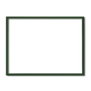 【木製額】色あせを防ぐUVカットアクリル ■デッサン額 大全紙サイズ(727×545mm)グリーン 壁掛けひも付き 化粧箱入り - 拡大画像