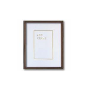 【木製額】温かみのある木製フレーム ■デッサン額 インチサイズ(254×203mm)ブラウン - 拡大画像