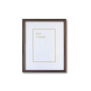 【木製額】温かみのある木製フレーム ■デッサン額 八ツ切サイズ(303×242mm)ブラウン - 拡大画像