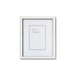 【木製額】温かみのある木製フレーム ■デッサン額 八ツ切サイズ(303×242mm)ホワイト - 拡大画像