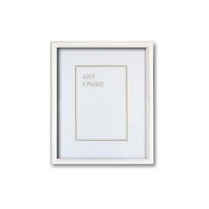 【木製額】温かみのある木製フレーム ■デッサン額 太子サイズ(379×288mm)ホワイト - 拡大画像