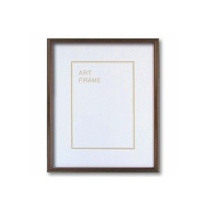【木製額】温かみのある木製フレーム ■デッサン額 四ツ切サイズ(424×348mm)ブラウン - 拡大画像