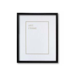 【木製額】温かみのある木製フレーム ■デッサン額 四ツ切サイズ(424×348mm)ブラック - 拡大画像