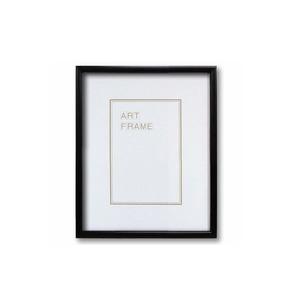 【木製額】色あせを防ぐUVカットアクリル 温かみのある木製フレーム デッサン額 八ツ切サイズ(303×242mm) ブラック - 拡大画像