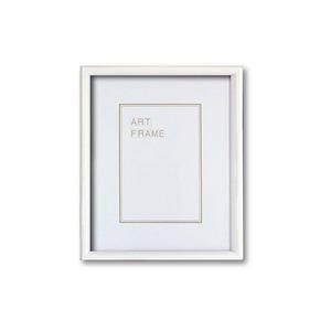【木製額】色あせを防ぐUVカットアクリル 温かみのある木製フレーム デッサン額 太子サイズ(379×288mm) ホワイト - 拡大画像