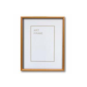 【木製額】色あせを防ぐUVカットアクリル 温かみのある木製フレーム デッサン額 四ツ切サイズ(424×348mm) ナチュラル - 拡大画像