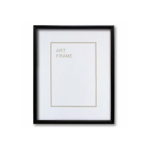 【木製額】色あせを防ぐUVカットアクリル 温かみのある木製フレーム デッサン額 四ツ切サイズ(424×348mm) ブラック - 拡大画像