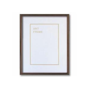 【木製額】色あせを防ぐUVカットアクリル 温かみのある木製フレーム デッサン額 大衣サイズ(509×394mm) ブラウン - 拡大画像