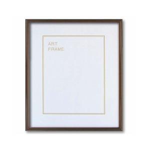 【木製額】色あせを防ぐUVカットアクリル 温かみのある木製フレーム デッサン額 三三サイズ(606×455mm)ブラウン - 拡大画像