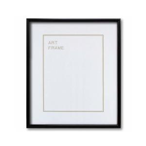 【木製額】色あせを防ぐUVカットアクリル 温かみのある木製フレーム デッサン額 三三サイズ(606×455mm)ブラック - 拡大画像