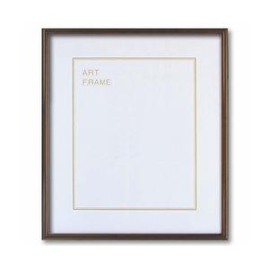 【木製額】色あせを防ぐUVカットアクリル 温かみのある木製フレーム デッサン額 大全紙サイズ(727×545mm) ブラウン - 拡大画像