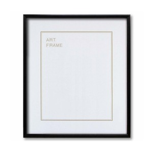 【木製額】色あせを防ぐUVカットアクリル 温かみのある木製フレーム デッサン額 大全紙サイズ(727×545mm) ブラック - 拡大画像