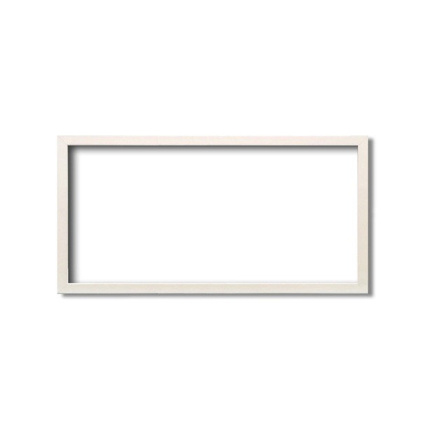 【長方形額】厚みのある作品収納可納 縦横兼用 横長額 厚み19mmまで 長方形額(600×300mm) パールホワイト
