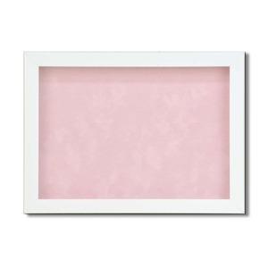 【ピンバッチ・缶バッチを飾れる額】壁掛け・スタンド付 紫外線やほこりや劣化から防ぐ B5(257×182mm) ピンク - 拡大画像